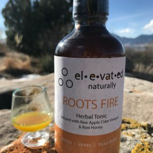 roots fire herbal tonic bottle