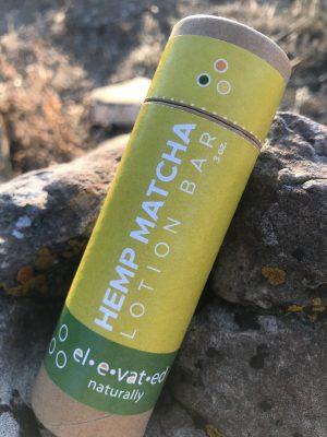 hemp matcha lotion bar