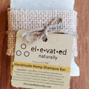 handmade hemp shampoo bar